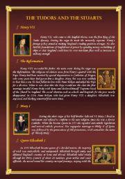 English Worksheets: The Tudors and the Stuarts