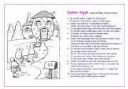 English Worksheets: Easter Glyph Fun!