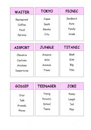 picture about Taboo Game Cards Printable known as Taboo Match Playing cards - ESL worksheet as a result of Rebs