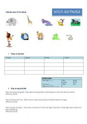 wild animals where they live what they eat what they look like esl worksheet by shirleyj. Black Bedroom Furniture Sets. Home Design Ideas