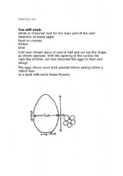 English Worksheet: Easter egg card