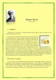 English Worksheets: ´Dubliners´ by James Joyce