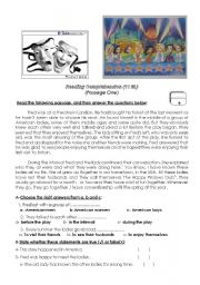 English Worksheets: 2 reading comprehension texts with comprehension exercises