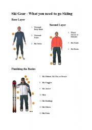 English Worksheet: Ski gear