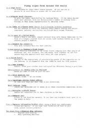English Worksheets: Jokes: English Errors