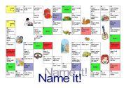 Name it! board game