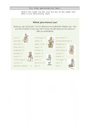 Personality Test - Jobs
