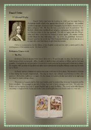 English Worksheet: Robinson Crusoe - Daniel Defoe