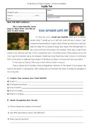 English Worksheet: The other life of Harry Potter