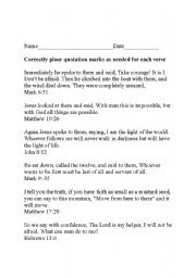 Worksheet Bible Worksheets For Adults english teaching worksheets other using quotations on a bible verse