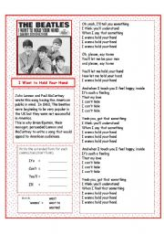 English Worksheets: The Beatles - I Want to Hold Your Hand