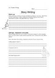 English Worksheet: Creative Writing: Setting, character & plot
