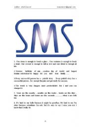 English Worksheets: Fine SMS