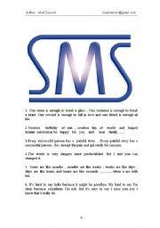 English Worksheet: Fine SMS