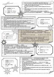 English Worksheet: SUFFIXES IN BLACK AND WHITE