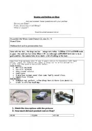 English Worksheet: Buying and Selling on Ebay: describing things