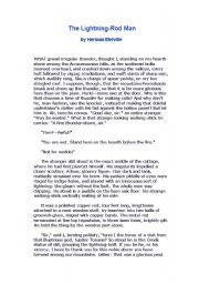 English Worksheets: The lightning-Rod Man
