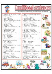 English Worksheet: CONDITIONAL SENTENCES