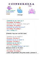English Worksheet: Cinderella Drama Script