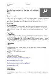 English Worksheets: The Curious Incident of the Dog in the Night-Time - tasks for students
