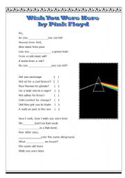 English Worksheet: wish you were here