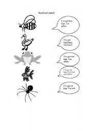 English Worksheets: animals and balloons