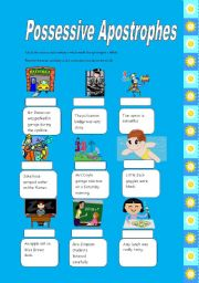 English Worksheets: Possessive Nouns and Apostrophes