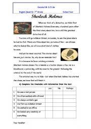 English Worksheet: Sherlock holmes