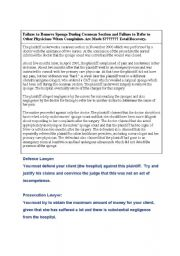 English Worksheets: Order in the court!