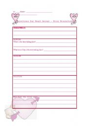 English Worksheets: idea organizer