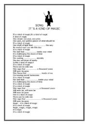 English Worksheets: It�s a kind of Magic