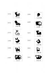 English Worksheets: Zodiac Chart