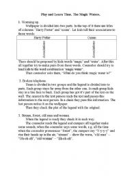 English Worksheets: Myths about Waterfall
