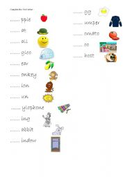 English Worksheets: Letters!