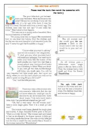 a complete lesson- short story and writing activities - ESL