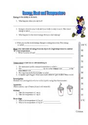 English worksheets: Heat and Temperature