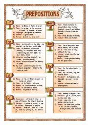 English Worksheet: Prepositions