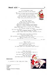 Do They Know Its Christmas Lyrics.English Worksheets Do They Know Its Christmas Time