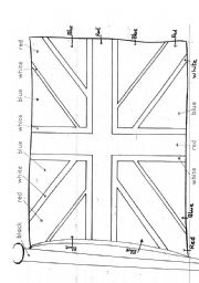 English Worksheet: English flag
