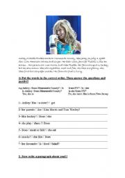 English Worksheet: High school musical 1