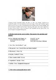 English Worksheet: High school musical 2