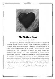 English Worksheets: The Mother�s Heart