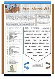 English Worksheets: Fun Sheet 20