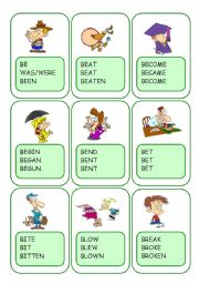 Irregular Verbs Card Game / Part 1