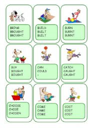 Irregular Verbs Card Game / Part 2