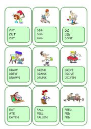 Irregular Verbs Card Game / Part 3