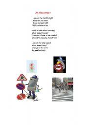 English worksheet: At the street