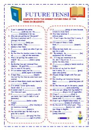 English Worksheets: Futures tenses