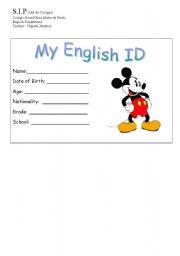 English Worksheets: My English ID