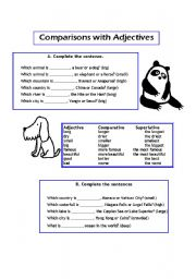 English worksheets: the Adjectives worksheets, page 469